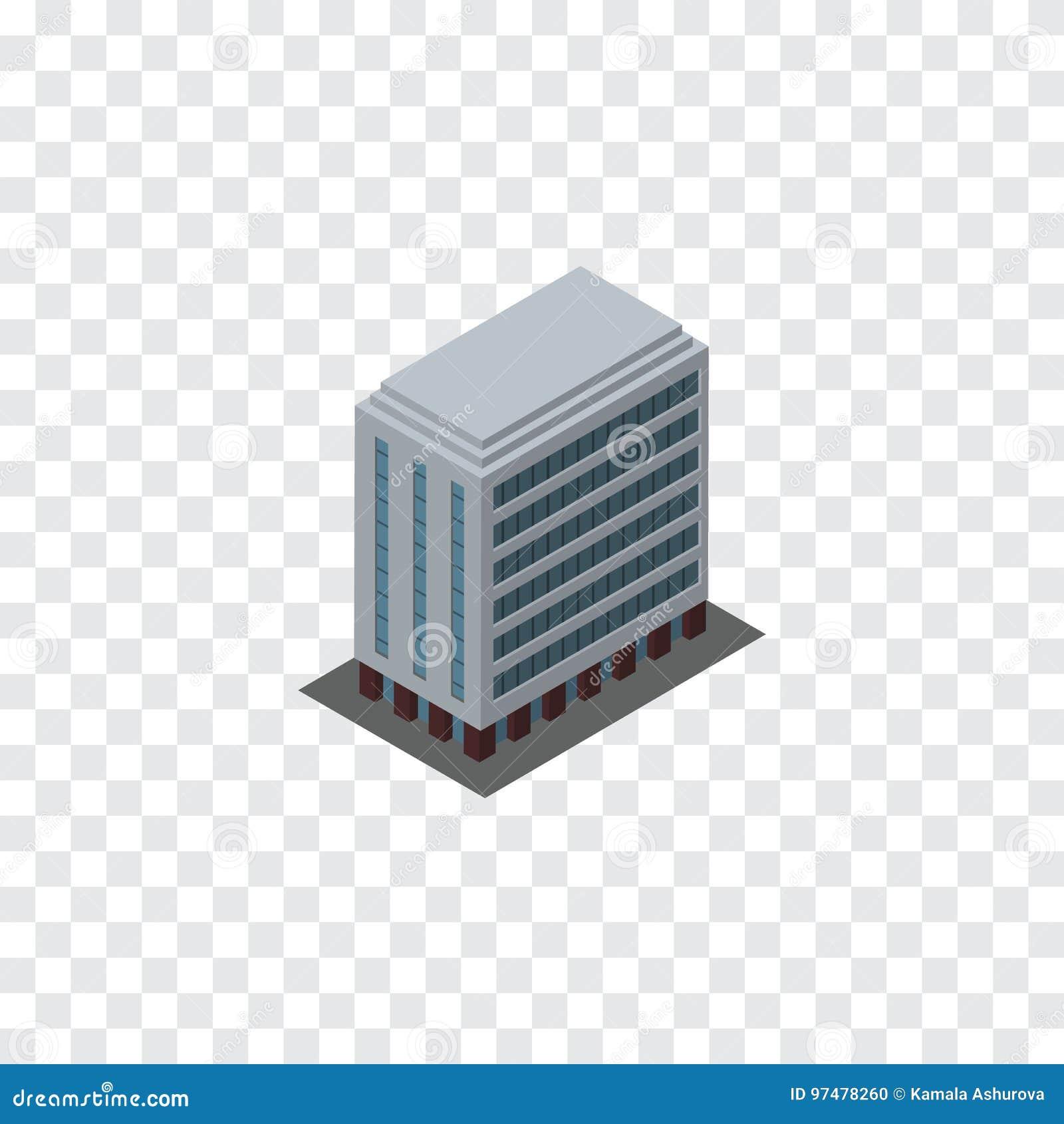 Costruzione isolata isometrica L elemento di vettore dell ufficio può essere usato per la costruzione, l ufficio, concetto di pro