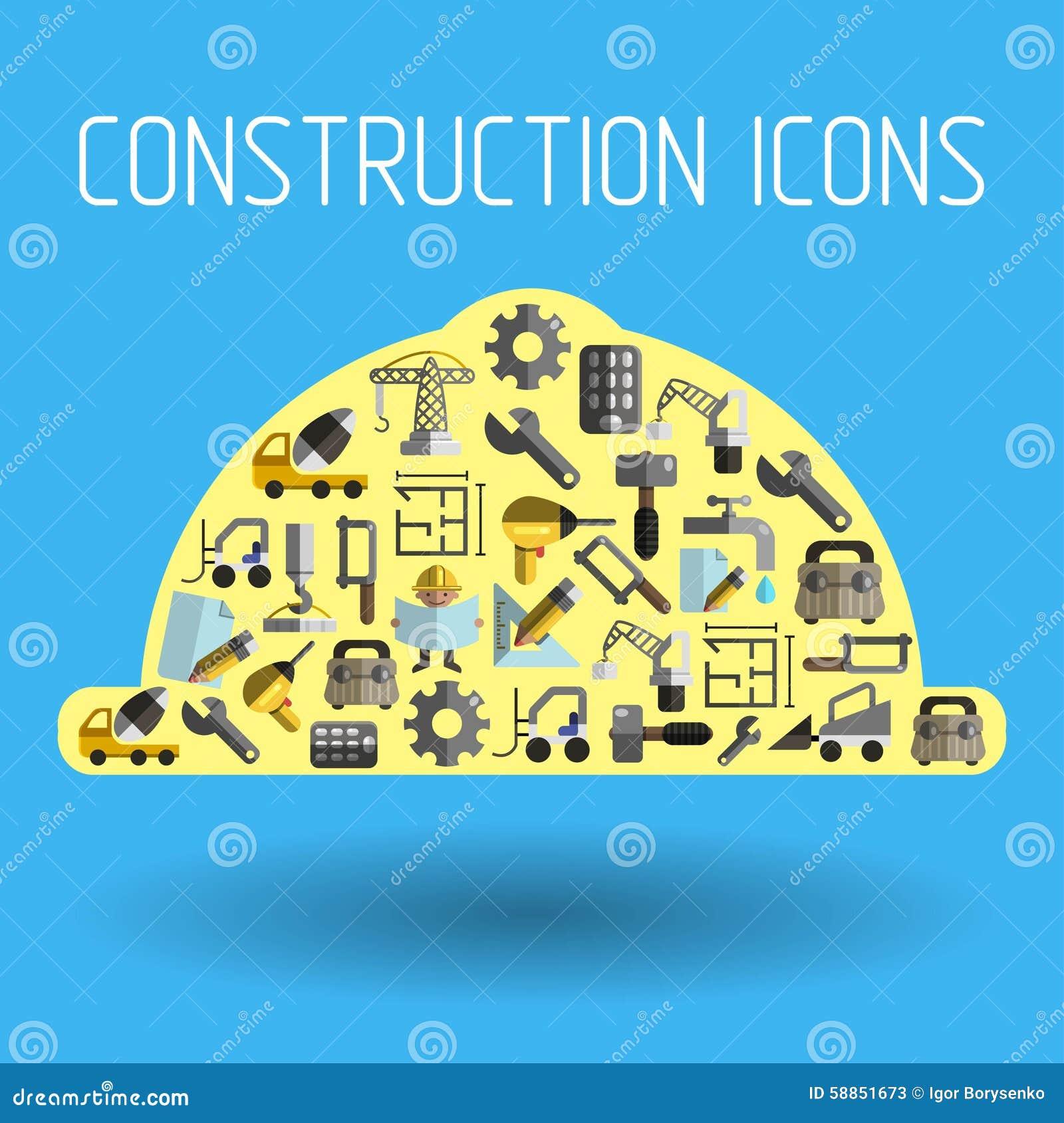 Costruzione 2 piani illustrazione vettoriale for Nuovi piani di costruzione