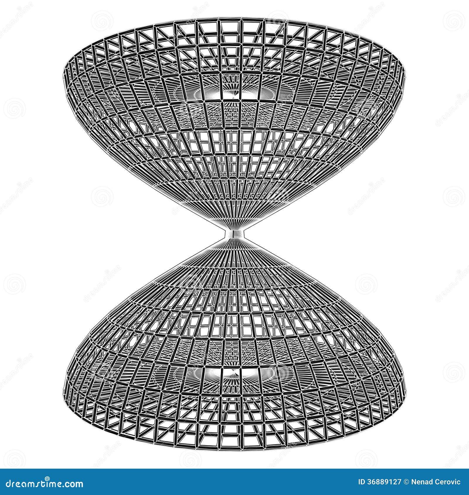 Download Costruzione Strutturale Del Vettore Della Gabbia Della Clessidra Illustrazione Vettoriale - Illustrazione di metallo, background: 36889127