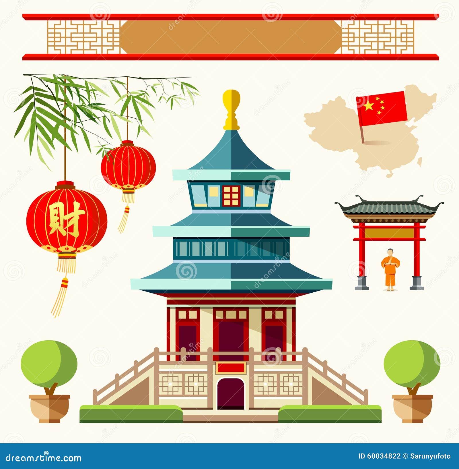 Costruzioni di vettore delle collezioni di stile della Cina