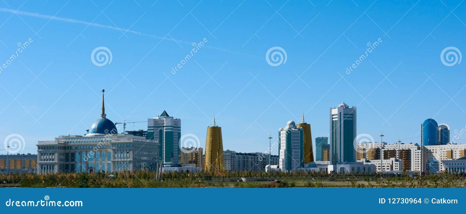 Costruzioni nella parte centrale di Astana