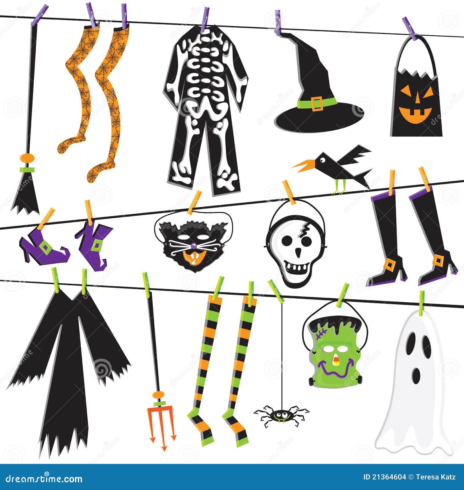 Costume halloween clothesline зажима искусства