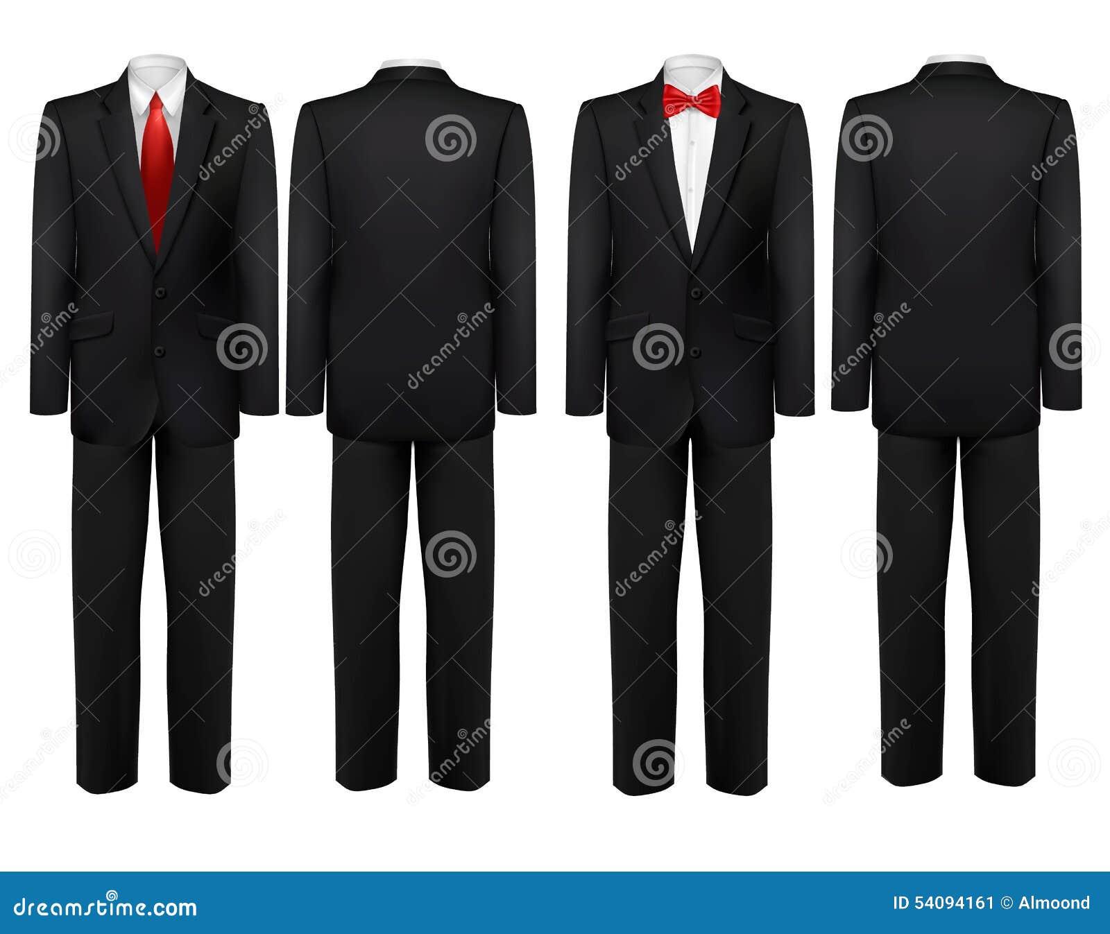 costume noir et chemise blanche avec le papillon et le lien illustration de vecteur image. Black Bedroom Furniture Sets. Home Design Ideas