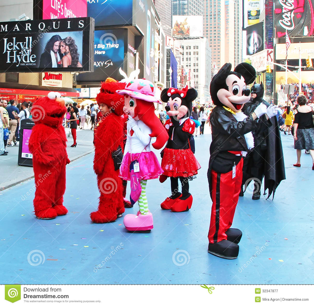 costumed characters in times square editorial photography Dora the Explorer Scene Dora the Explorer GI