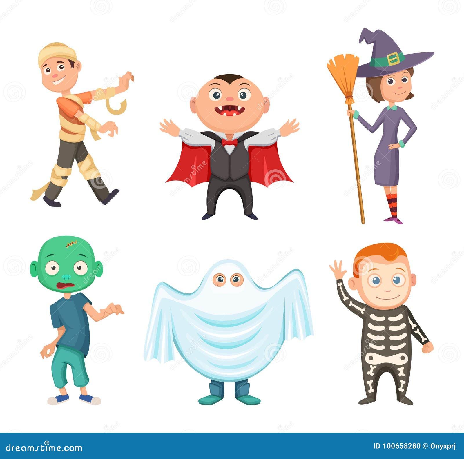 Costumi Di Halloween Per I Bambini Zombie, Vampiro, Strega ...