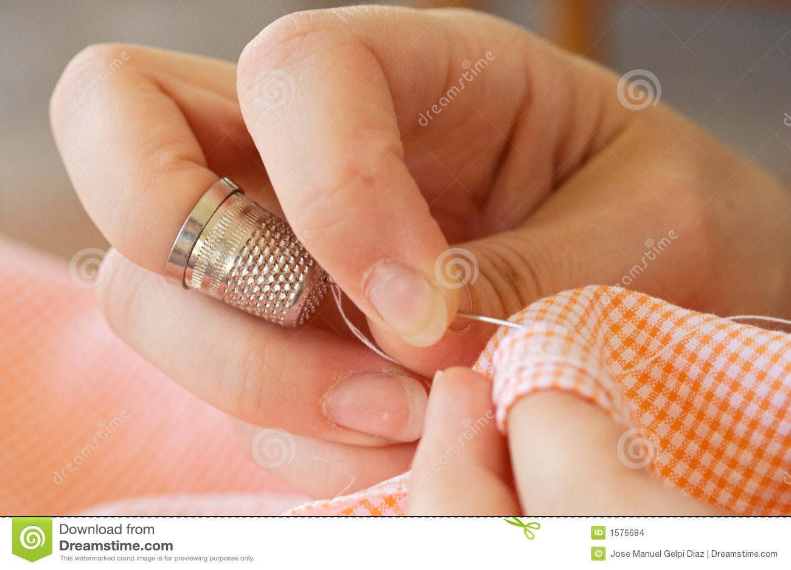 Costura de las manos