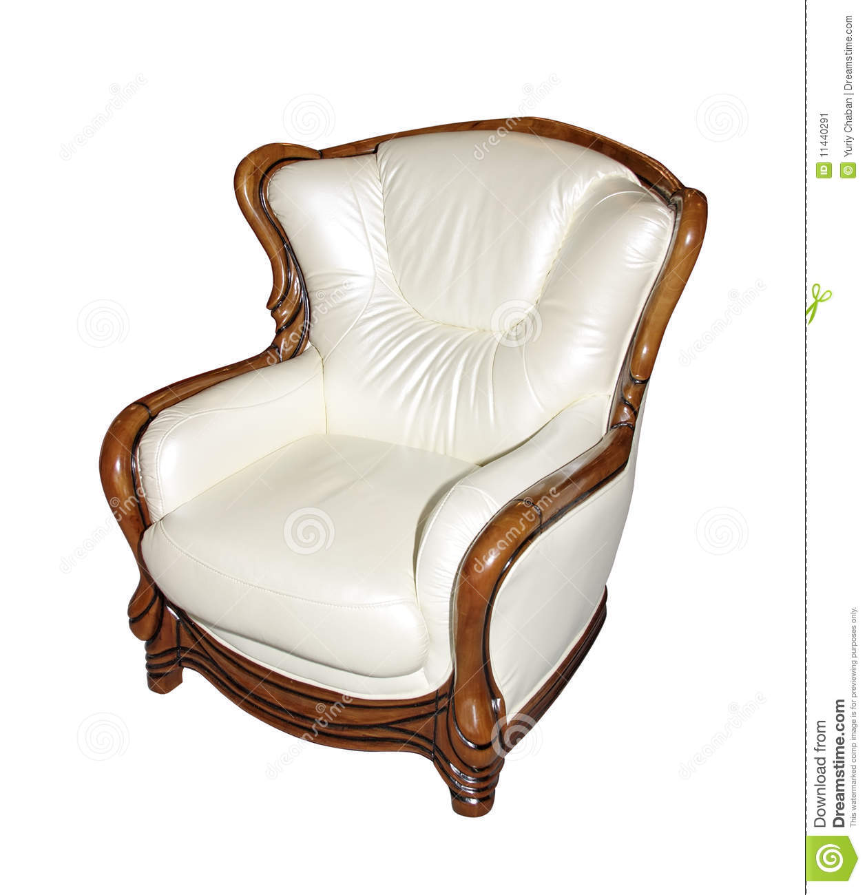 Cosy leather armchair stock image. Image of business ...