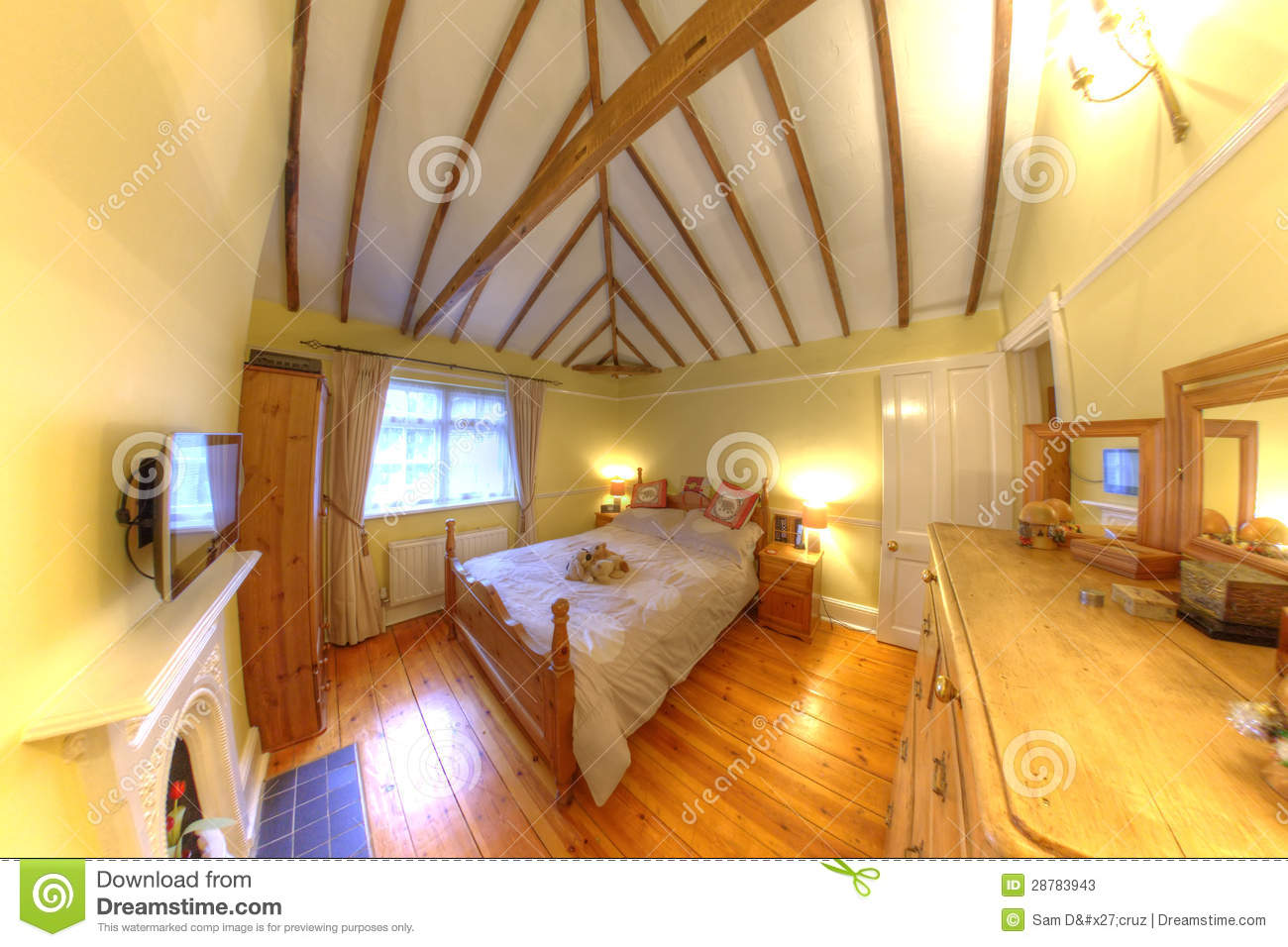 Cosy Old Cottage Interior Bedroom