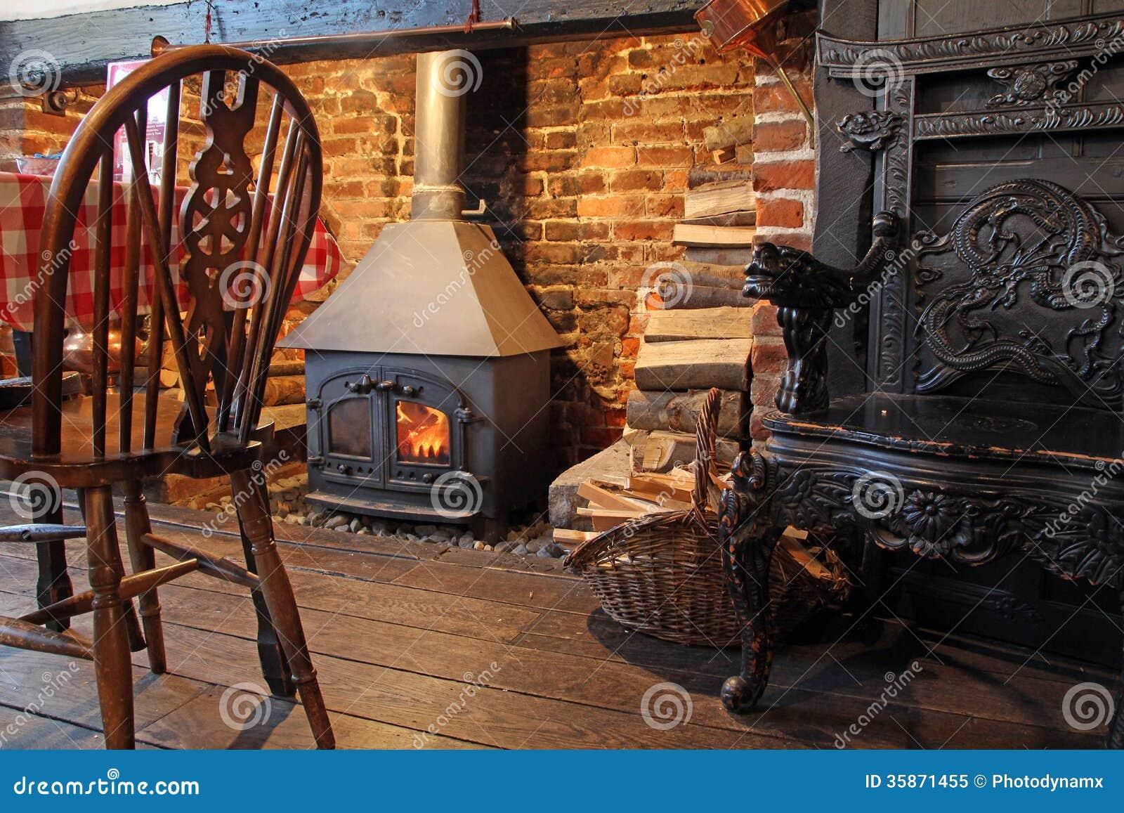 Cosy Tudor Stove Fire Burner Stock Image Image Of Stove