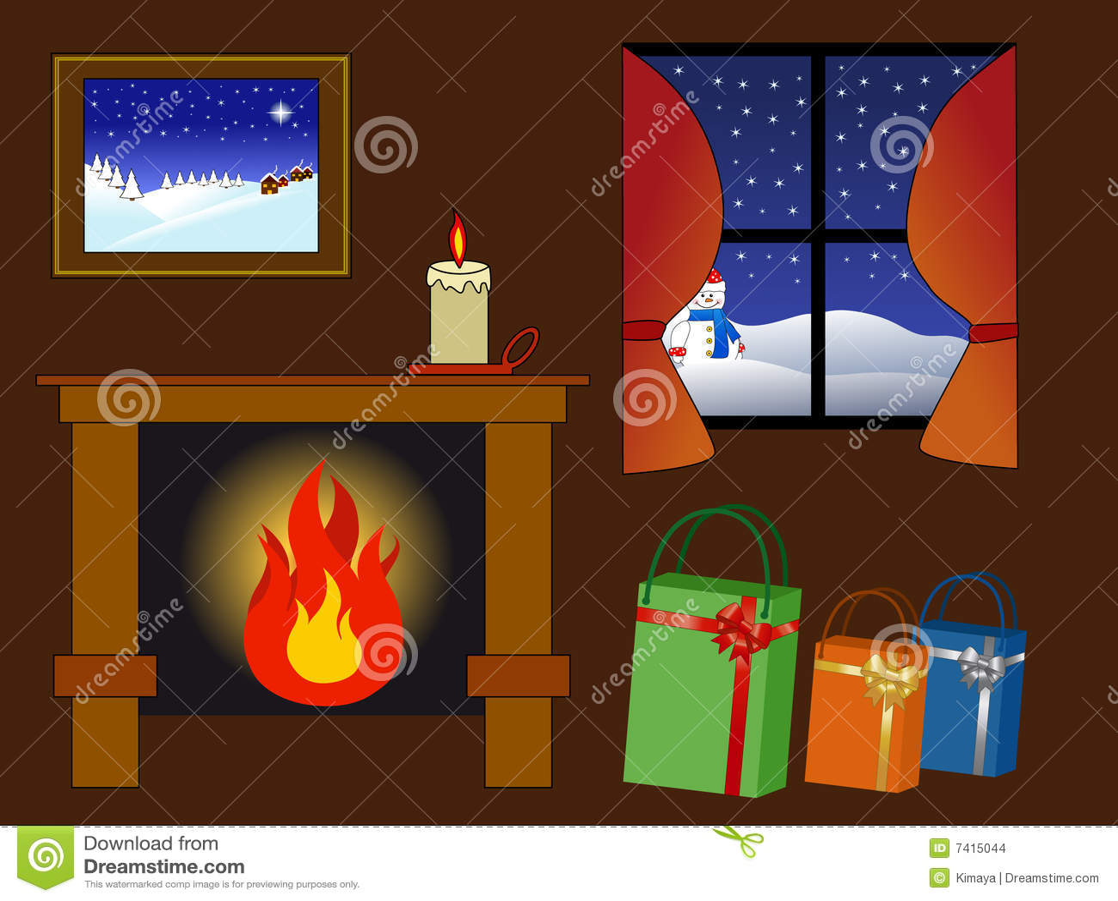 Cosy Winter Scene Stock Images Image 7415044