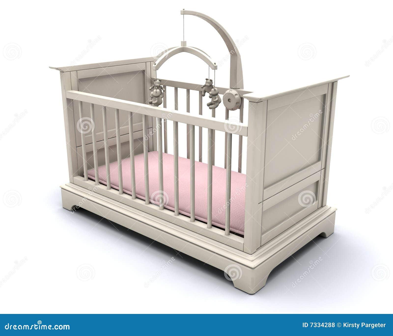 Cot For Baby Girl Stock Illustration Illustration Of Crib