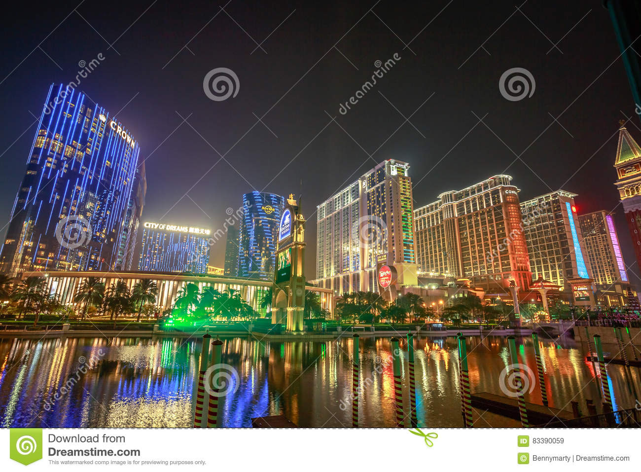 Cotai Strip Macau editorial st...