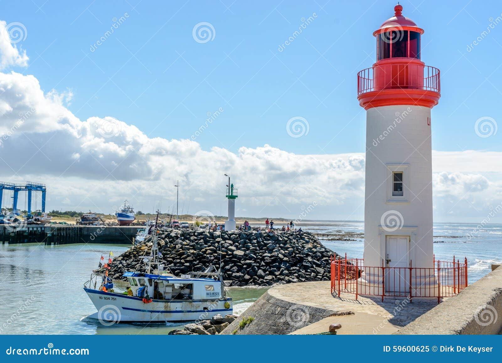 Cotiniere del La, puerto pesquero en la isla de Oleron, Francia