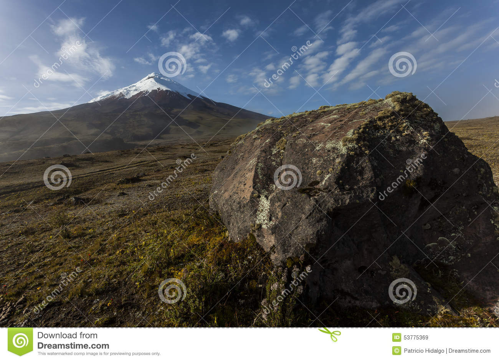 Cotopaxi i skała