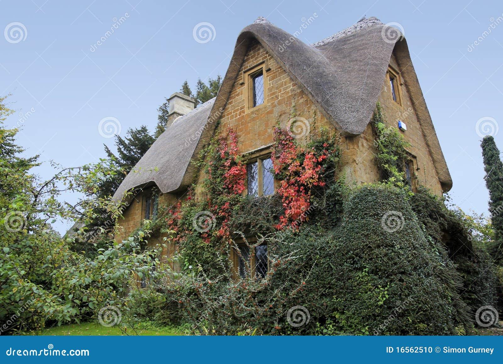 Cotswalds chałupy dom Oxfordshire wiejski