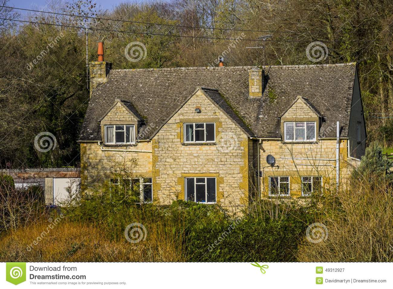 Cotswold Cottage Stock Photo Image 49312927