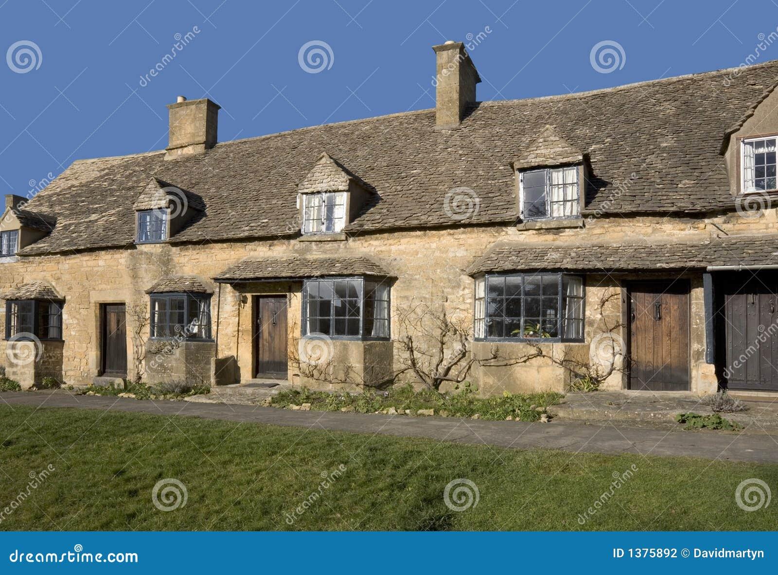 Cotswolds de village de broadway de maisons