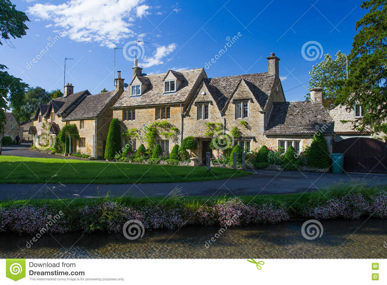 Stone House In The Cotswolds Editorial Image