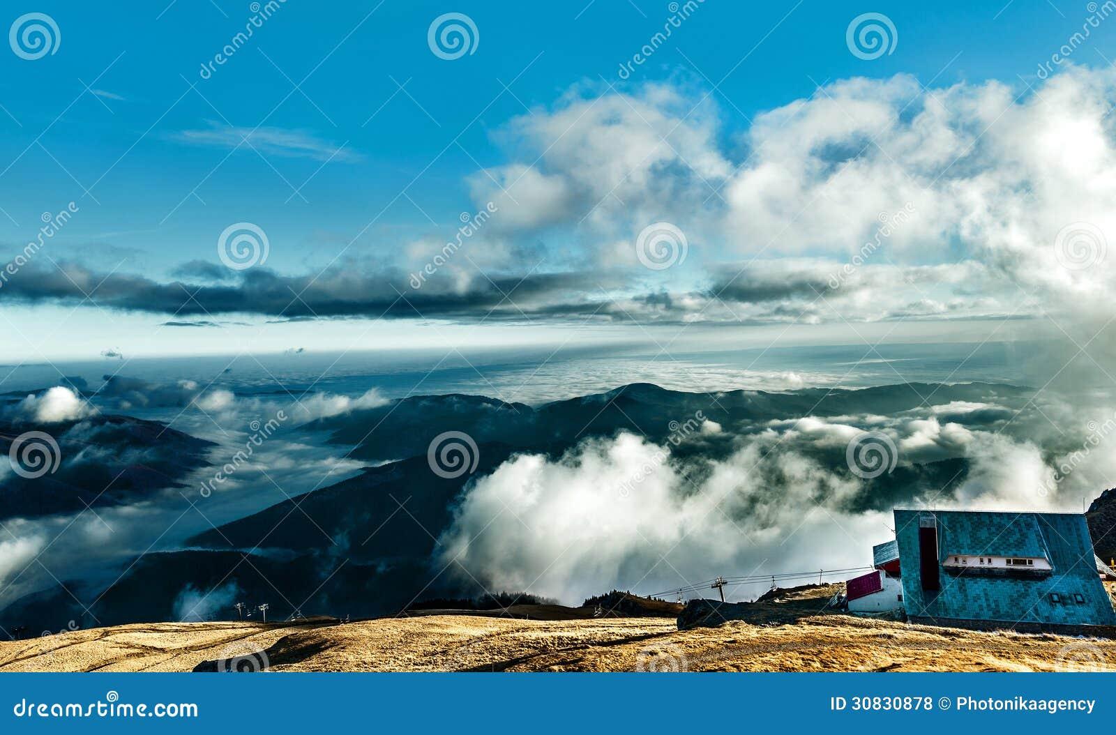 Cottage alla cima della montagna