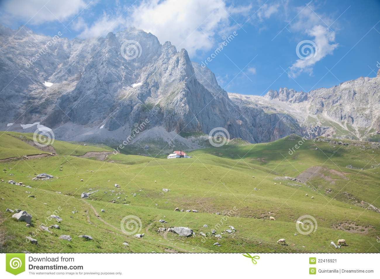 Cottage in cantabrian mountains stock image image 22416921 for Cottage in the mountains