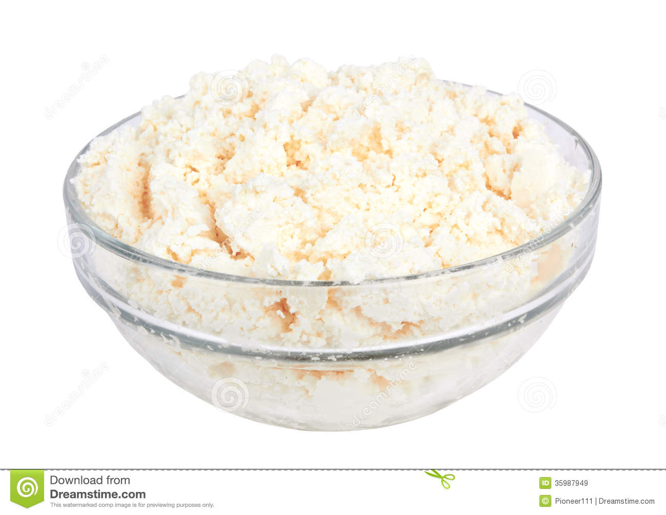 Cottage Cheese Stock Image Of Health Container