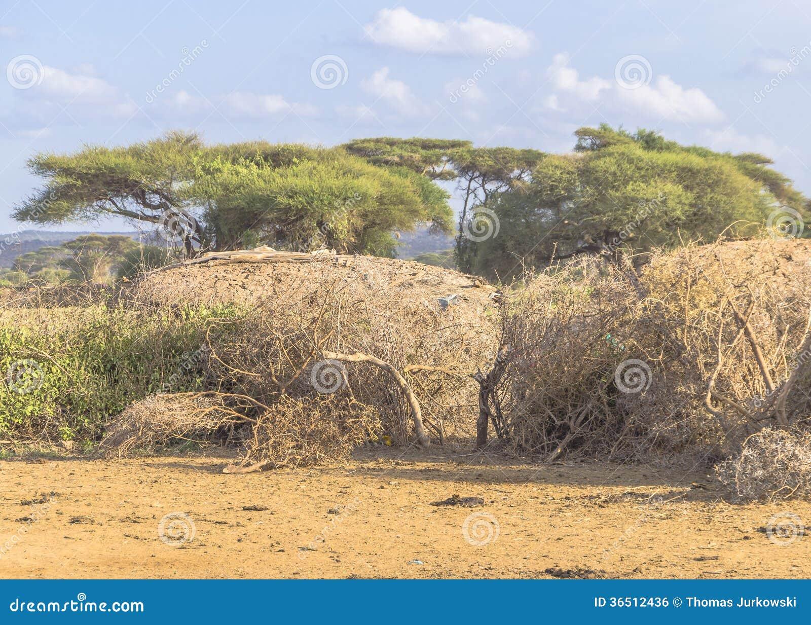 Cottage dans le camp de masai