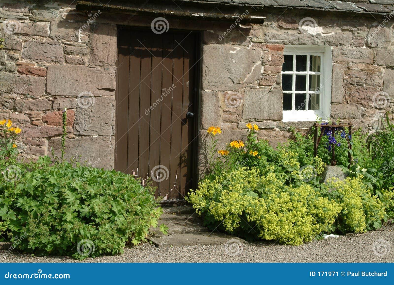 Cottage del vecchio paese scozia immagine stock for Vecchio cottage inglese