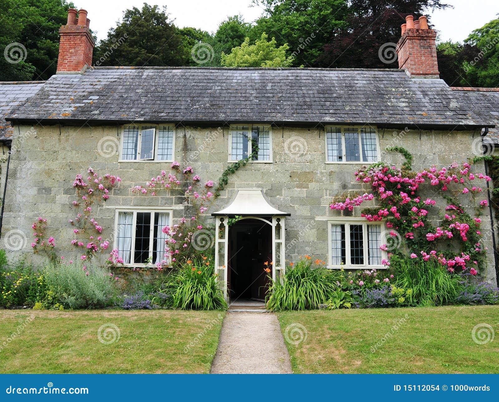 cottage di pietra fotografia stock immagine di propriet