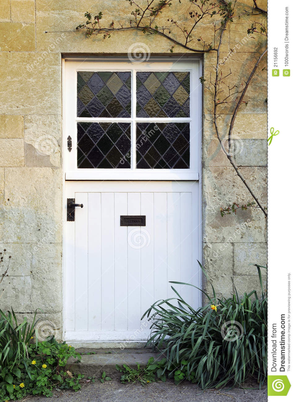 Cottage Front Door Stock Photography - Image: 21156692