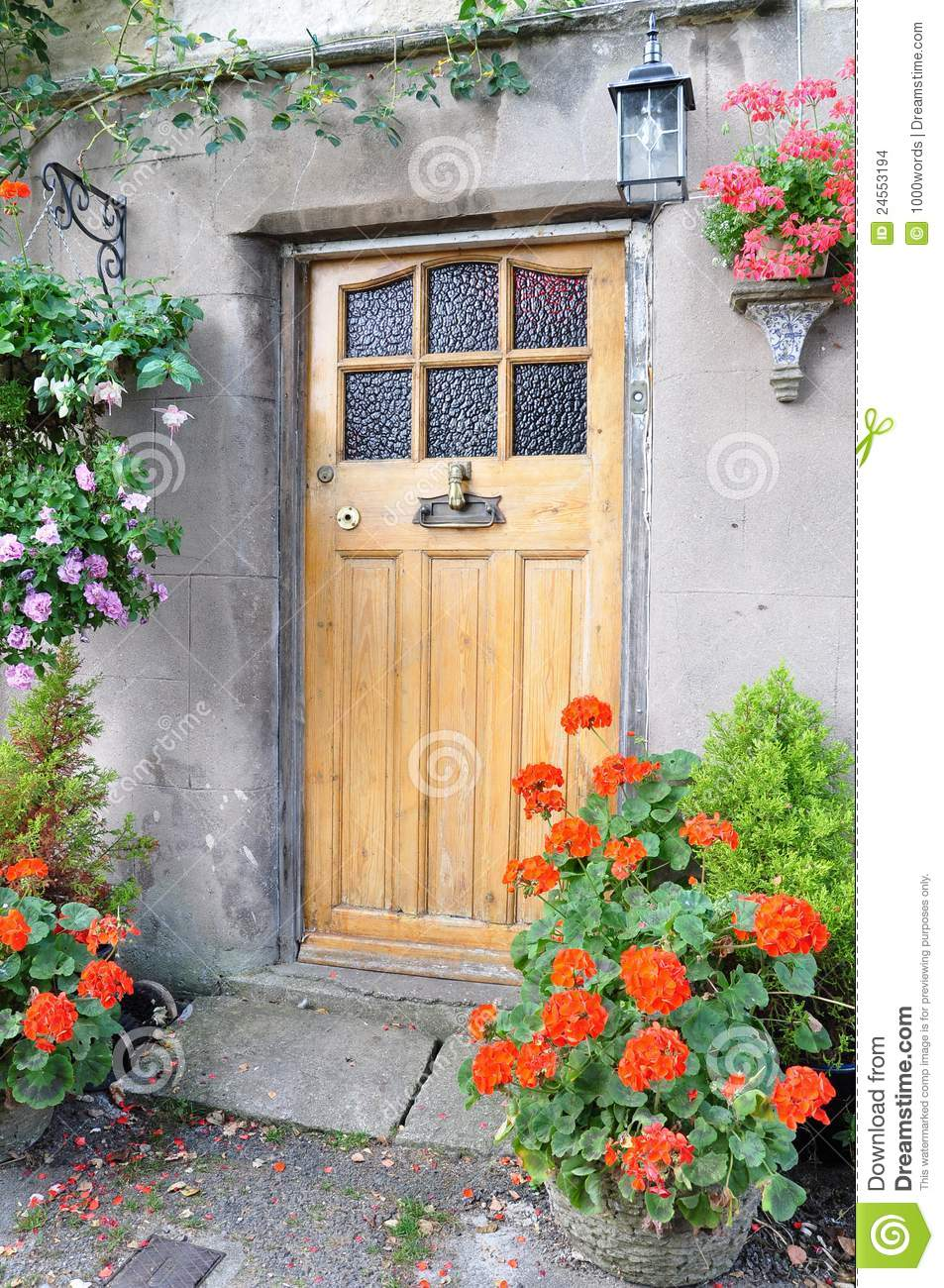 Cottage Front Door Stock Photo Image Of Color Buildings 24553194