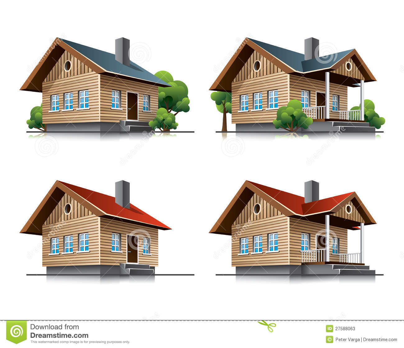 Cottages Stock Illustrations – 378 Cottages Stock Illustrations ...