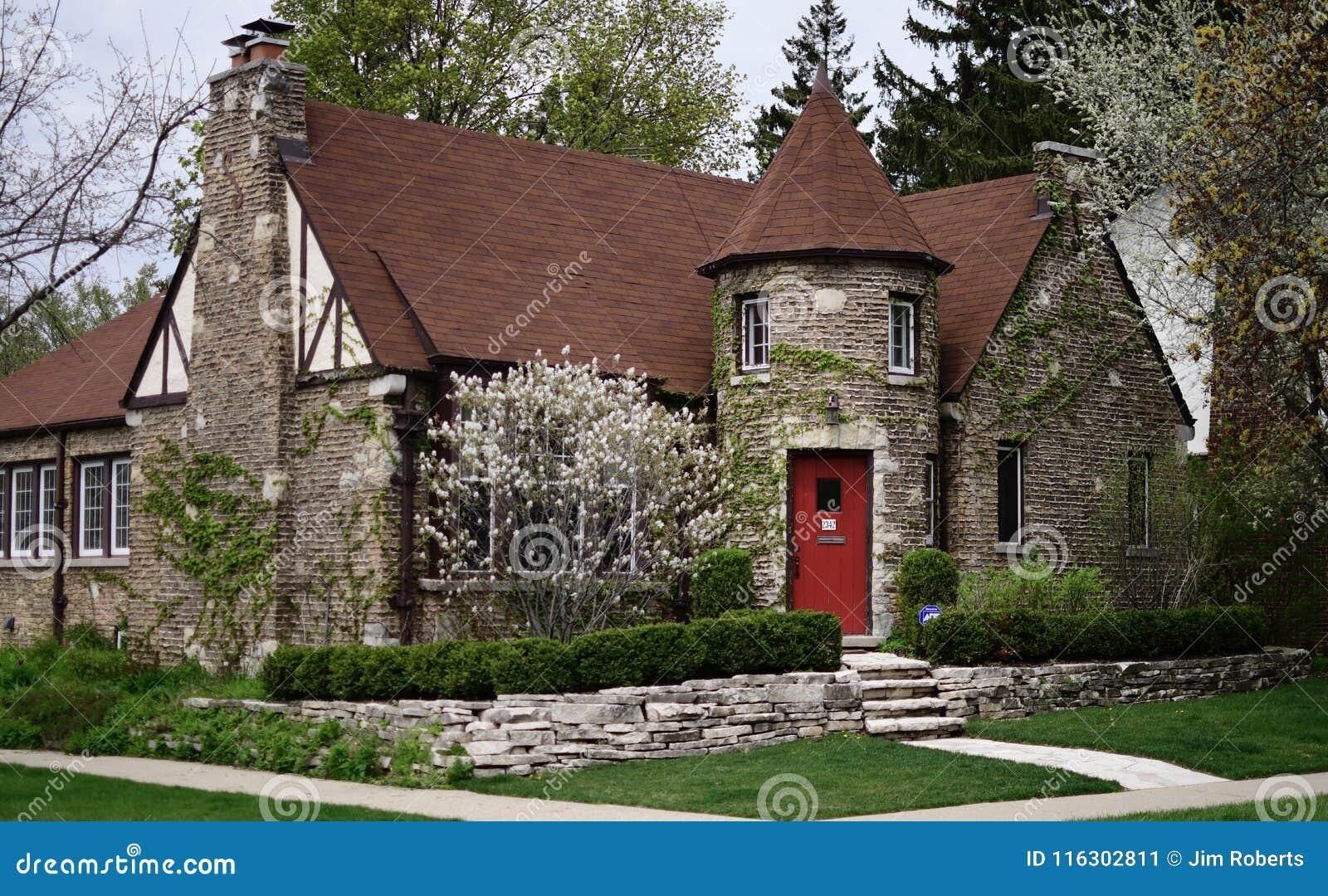 Cottage Inglese In Evanston Fotografia Editoriale Immagine Di Cuoco Ampio 116302811