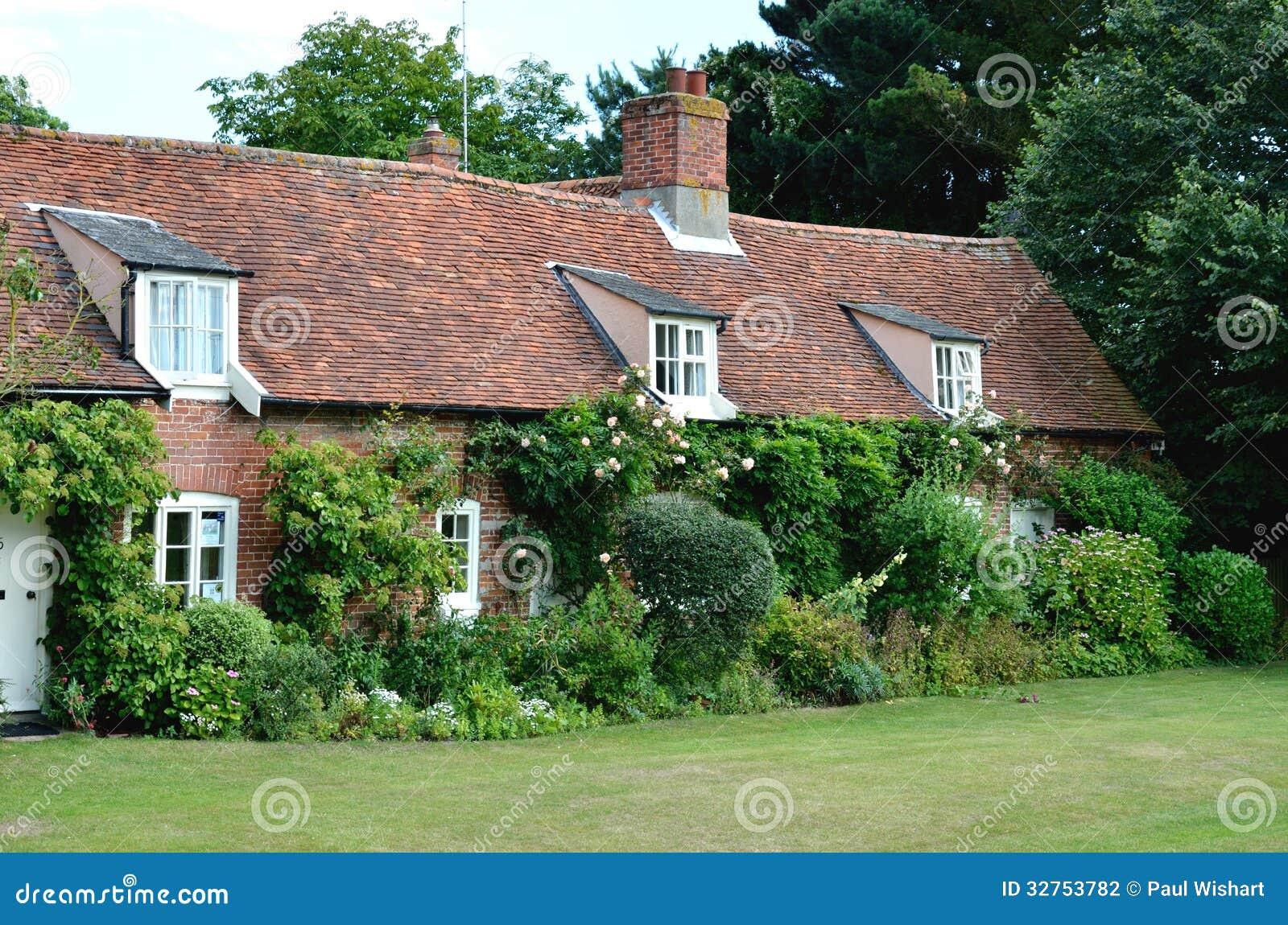 cottage inglesi del paese fotografia stock immagine di