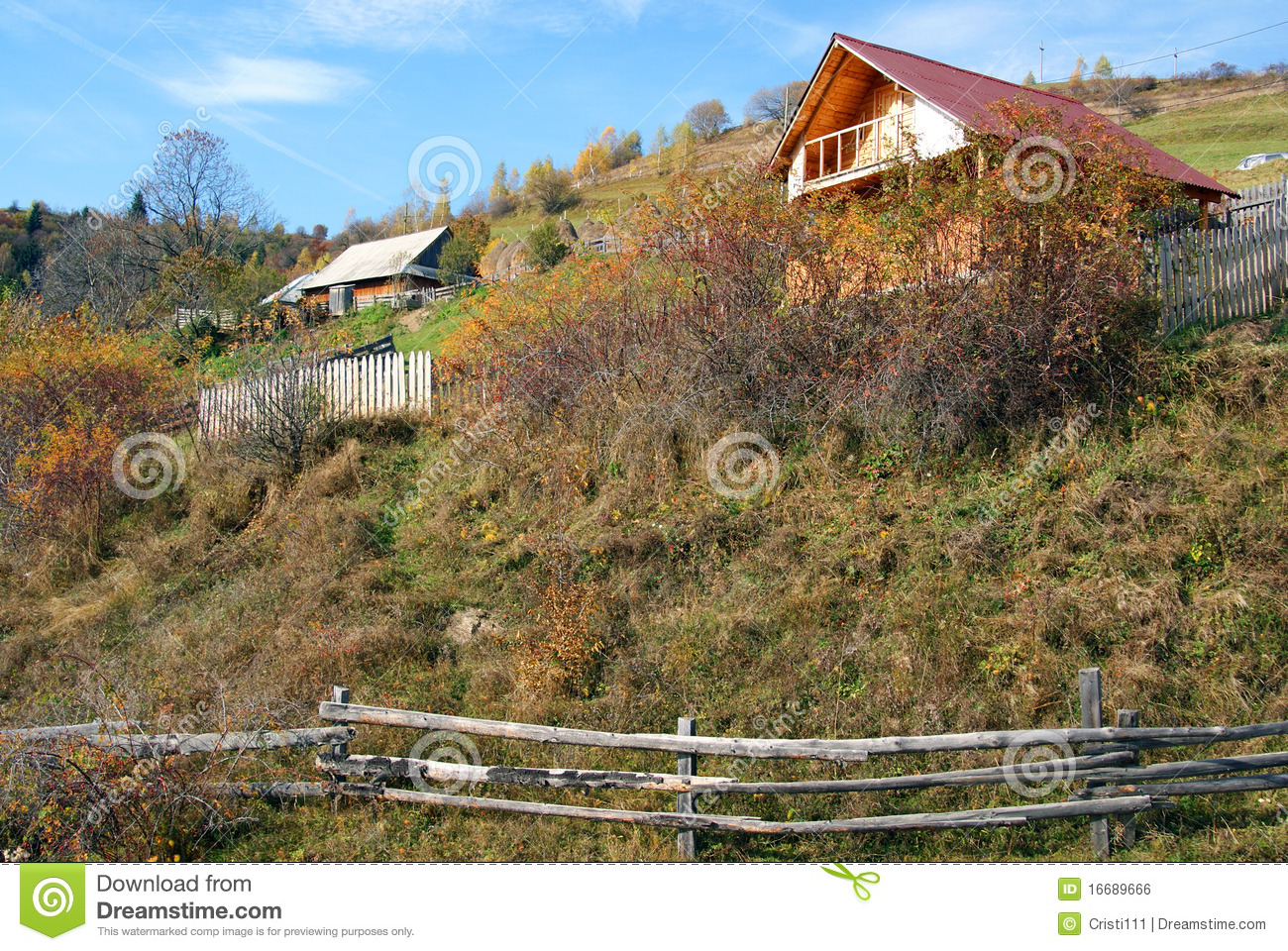 Cottage in mountain royalty free stock image image 16689666 for Cottage in the mountains