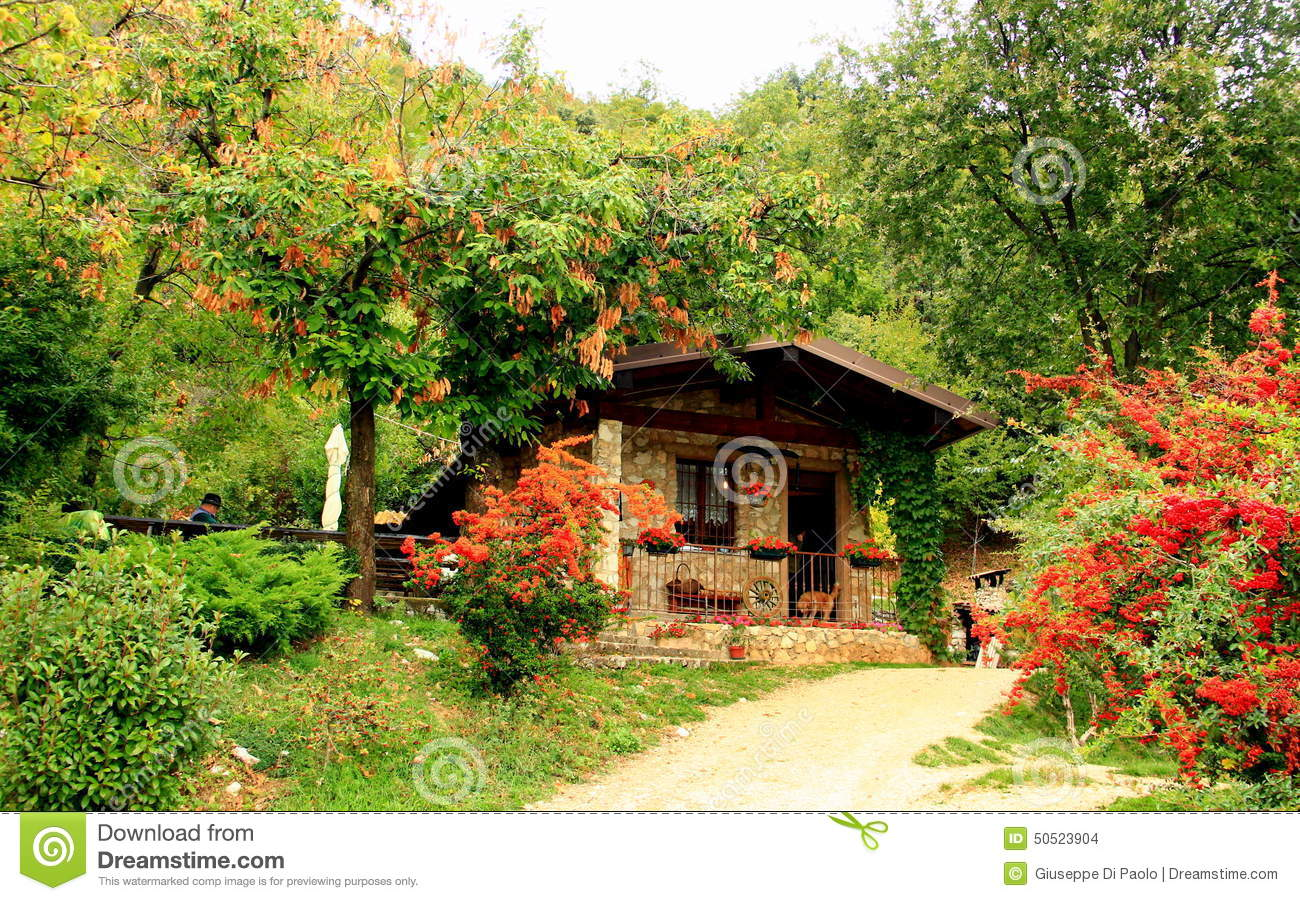 The cottage in the mountain stock photo image 50523904 for Cottage in the mountains
