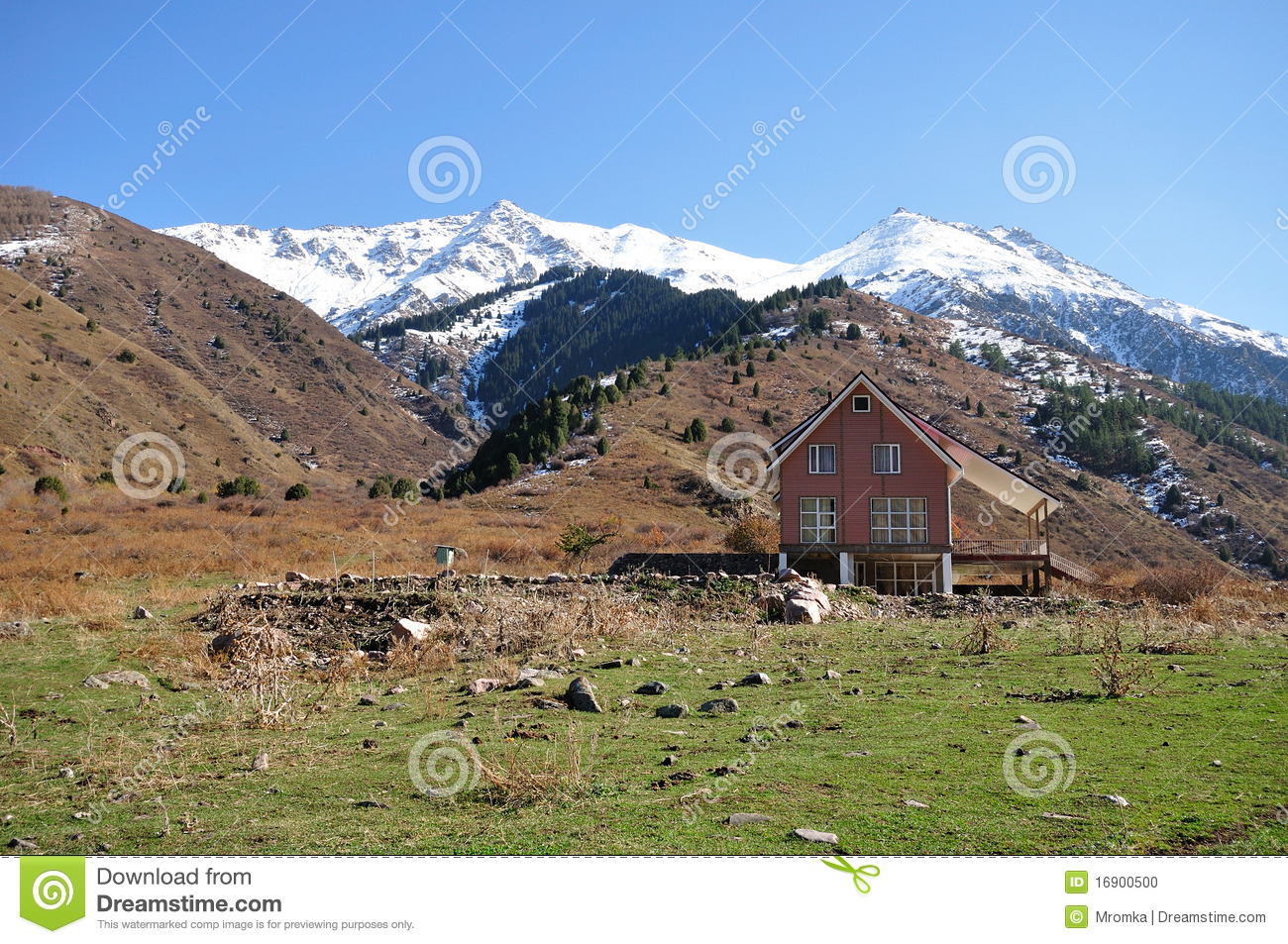 Cottage in the mountains stock photo image 16900500 for Cottage in the mountains