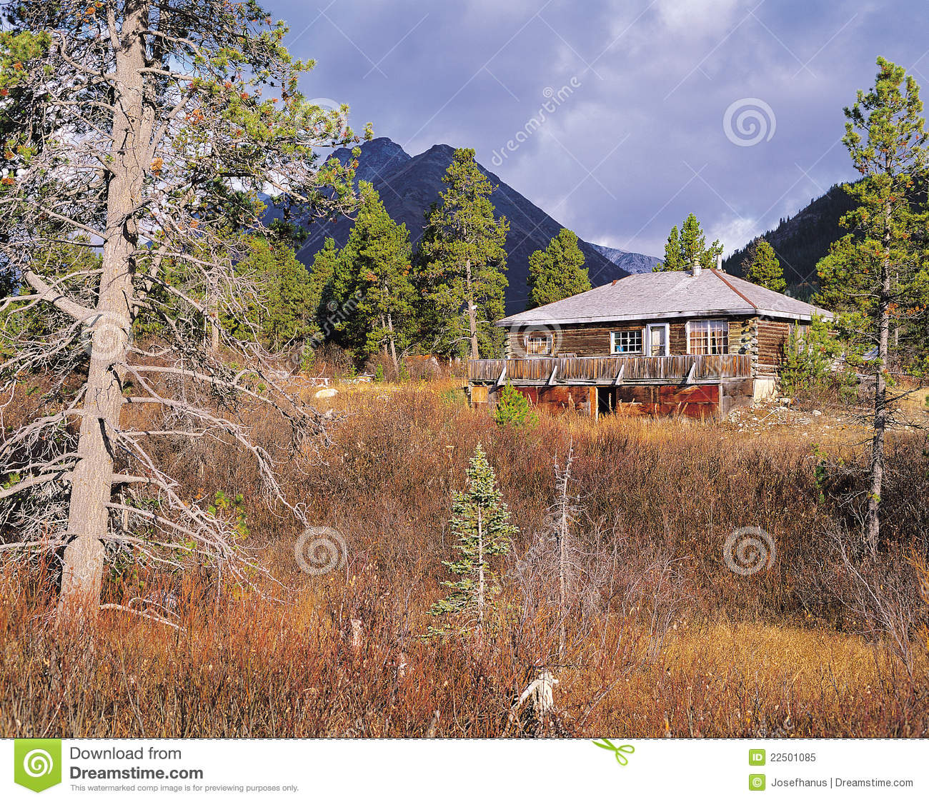 Cottage and mountains royalty free stock photo image for Cottage in the mountains