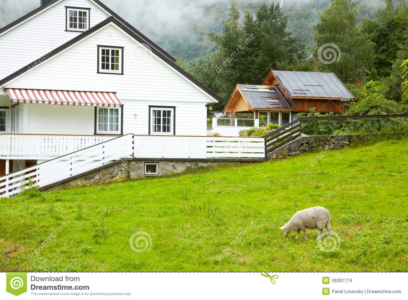 Cottage in mountains stock images image 26281774 for Cottage in the mountains