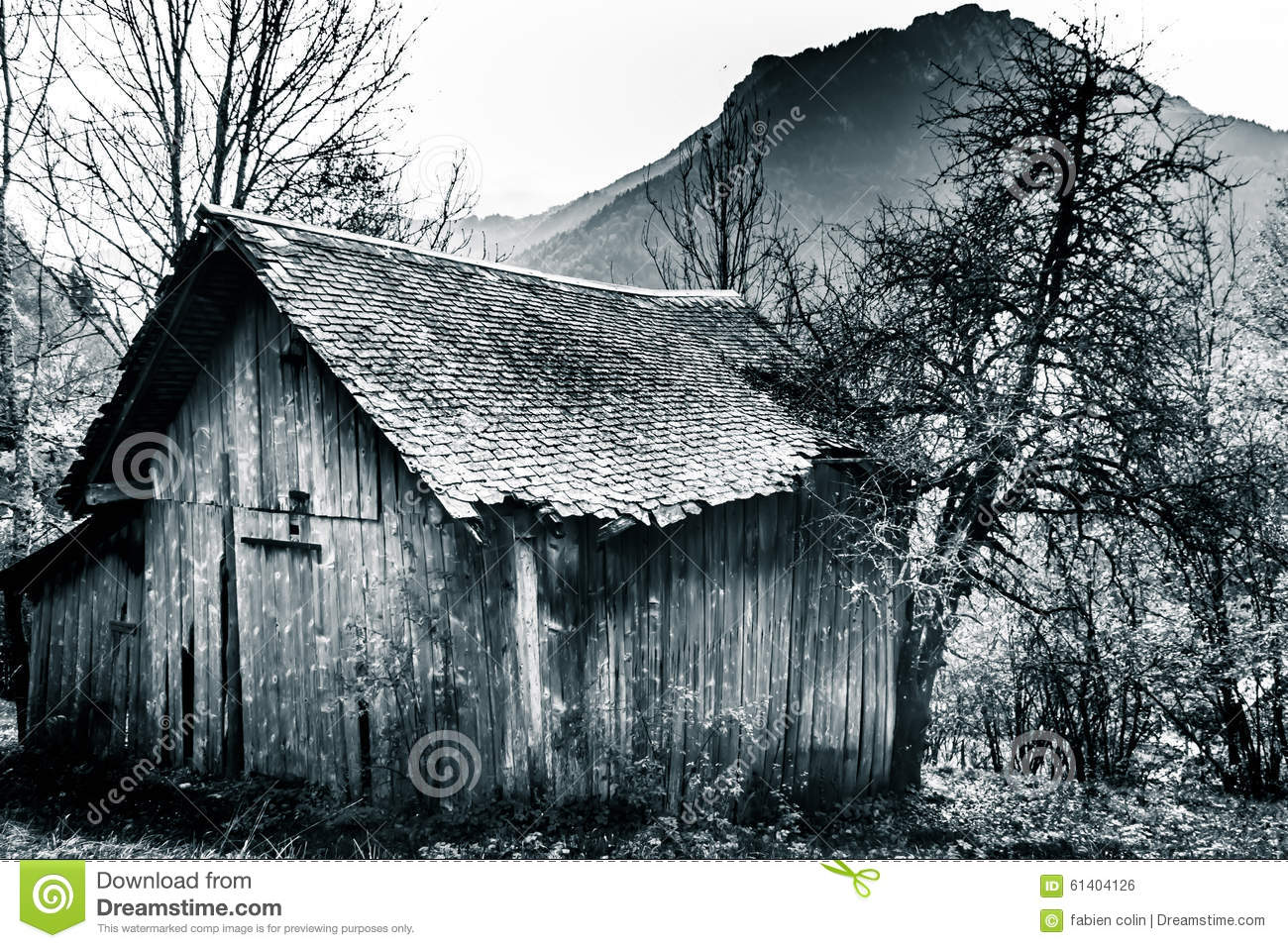 Cottage in the mountains stock photo image 61404126 for Cottage in the mountains