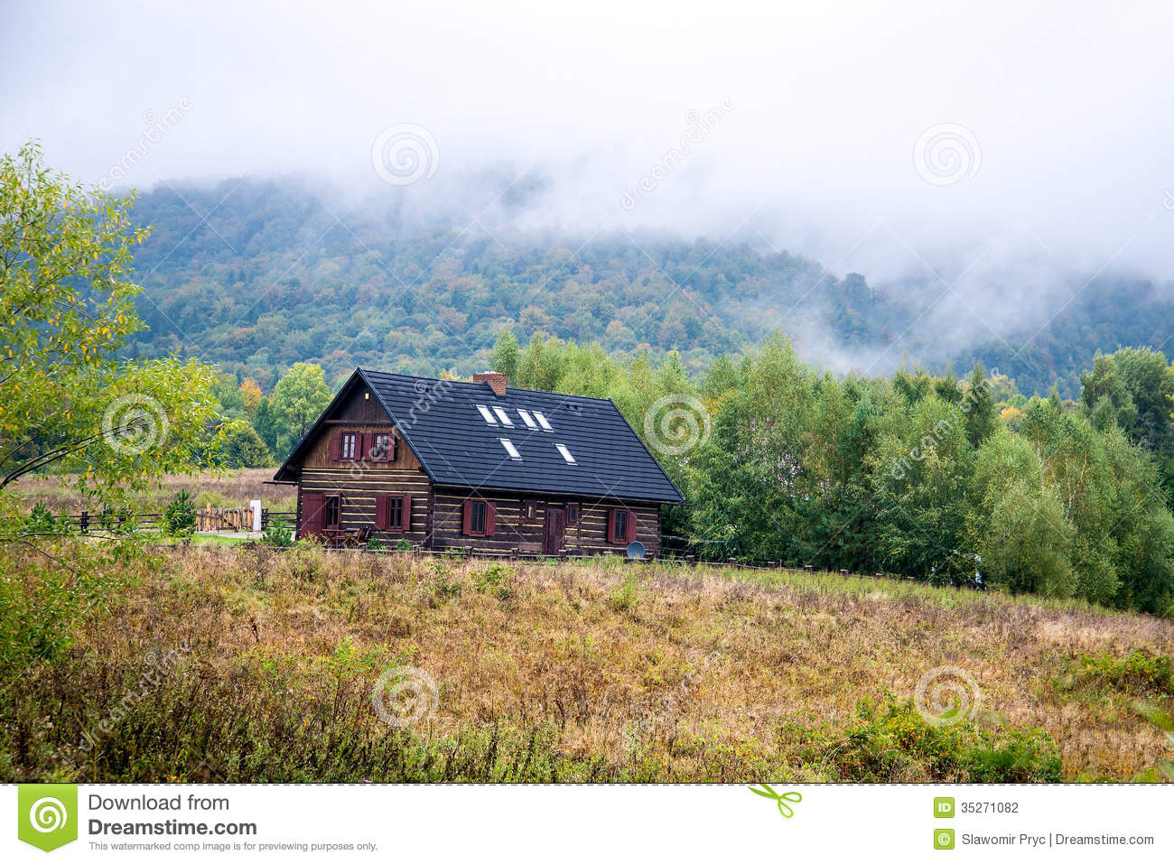 Cottage in the mountains stock photography image 35271082 for Cottage in the mountains