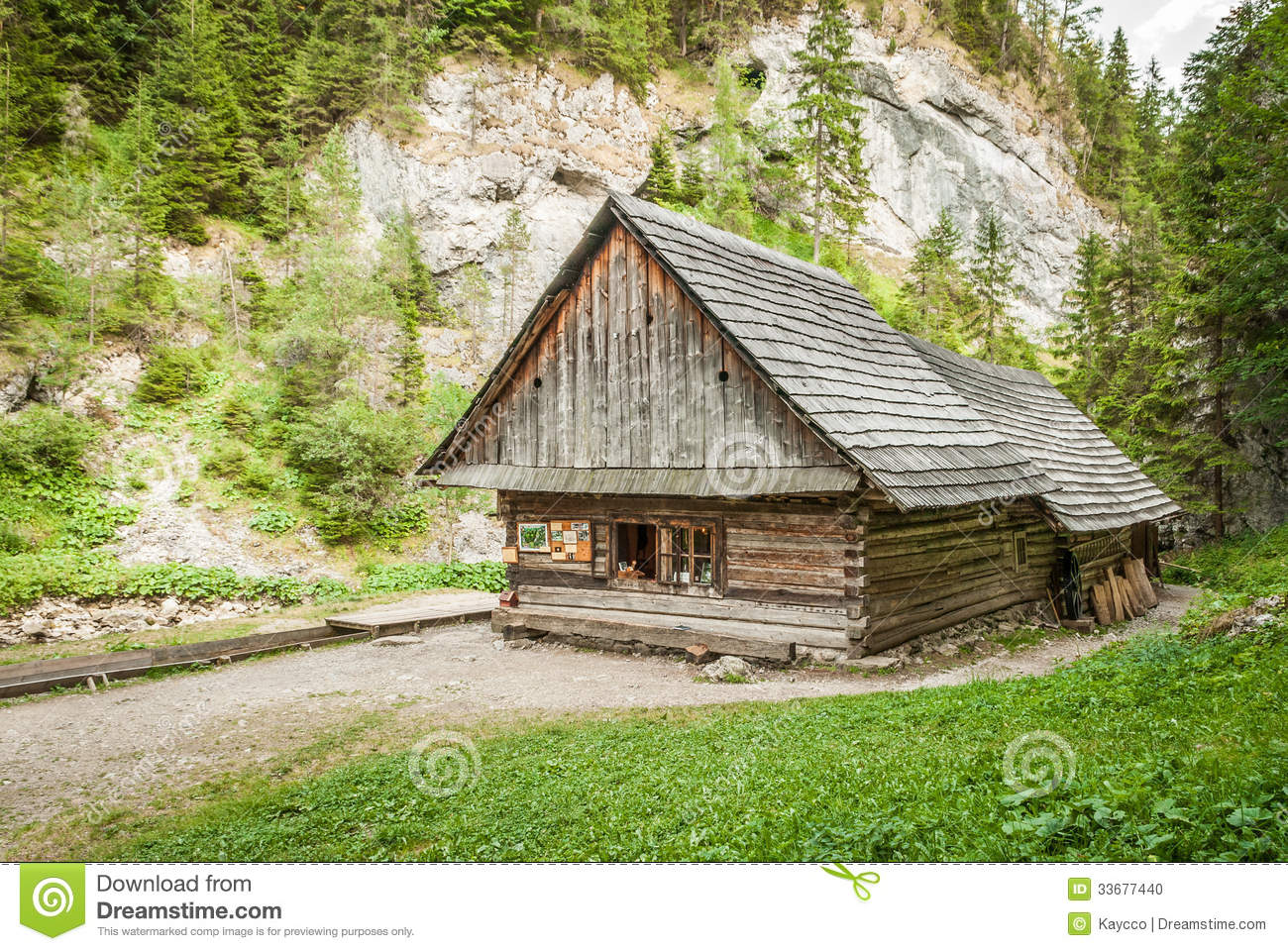 Cottage in the mountains stock photo image 33677440 for Cottage in the mountains