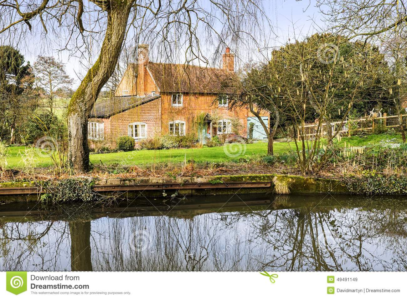 Cottage Next To Water Stock Image Image Of Rural River