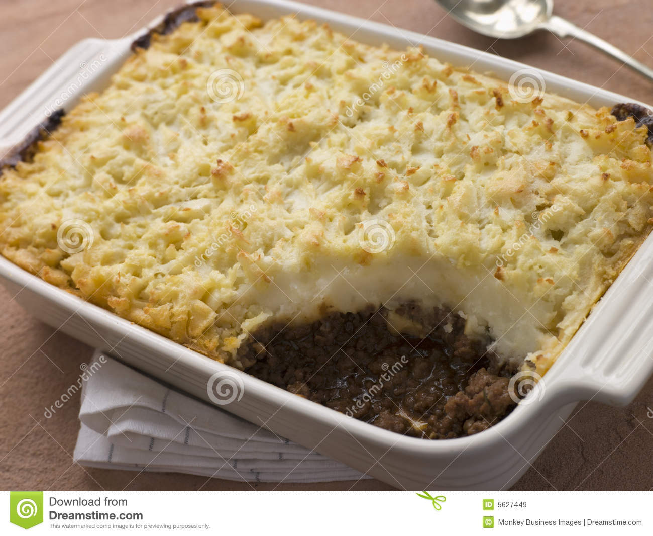 cottage pie in a dish royalty free stock images image