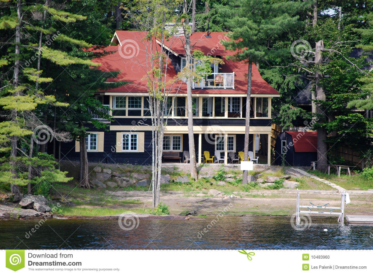 Cottage With Red Roof Stock Photo Image 10483960