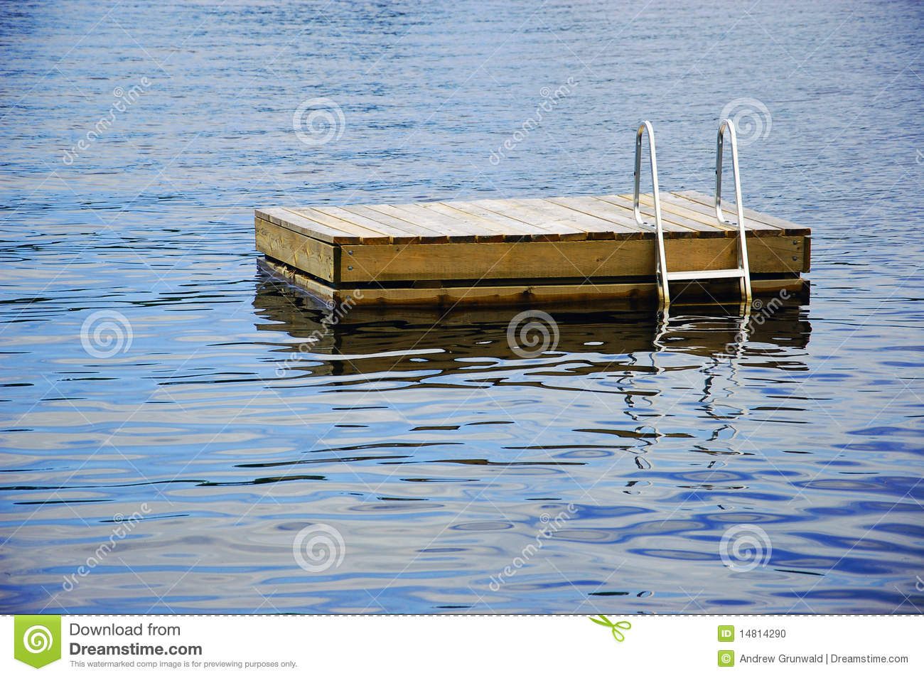 Cottage Swimming Raft Stock Photo Image 14814290