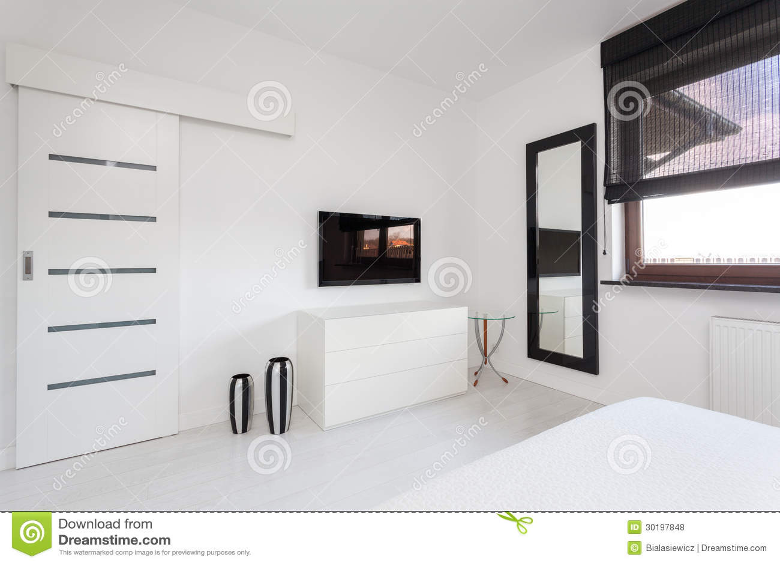 Cottage Vibrant Meubles De Chambre Coucher Photo Stock Image  # Meuble Tv Chambre A Coucher