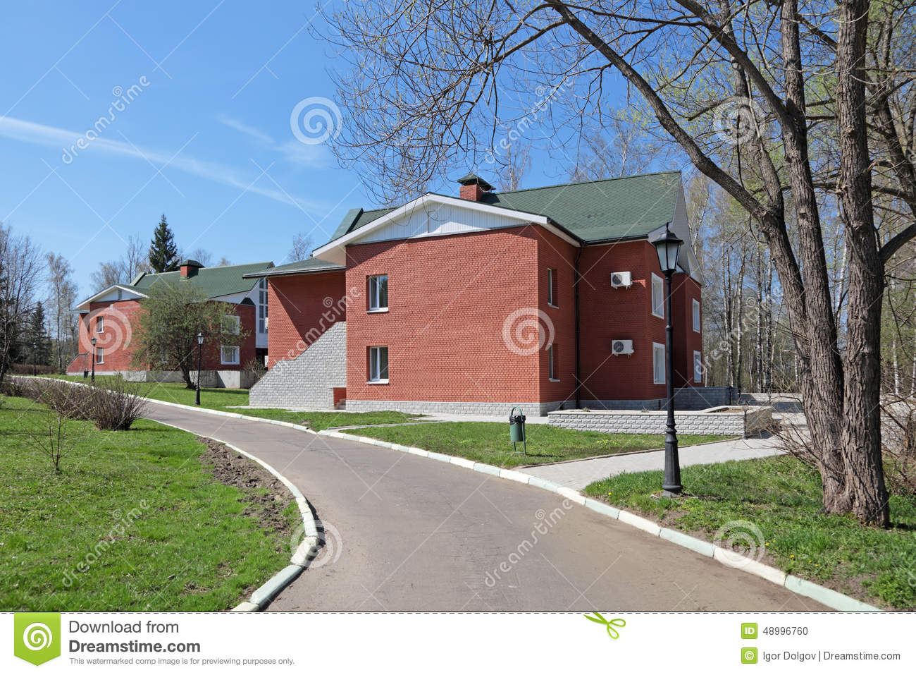 Cottage village stock photo image 48996760 for Big houses in the country