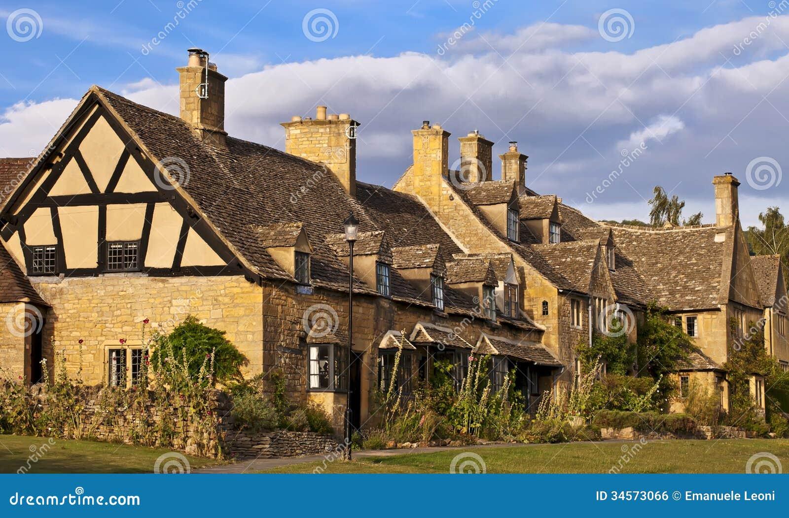 Cottages de Broadway.Traditional Cotswold en Angleterre, R-U