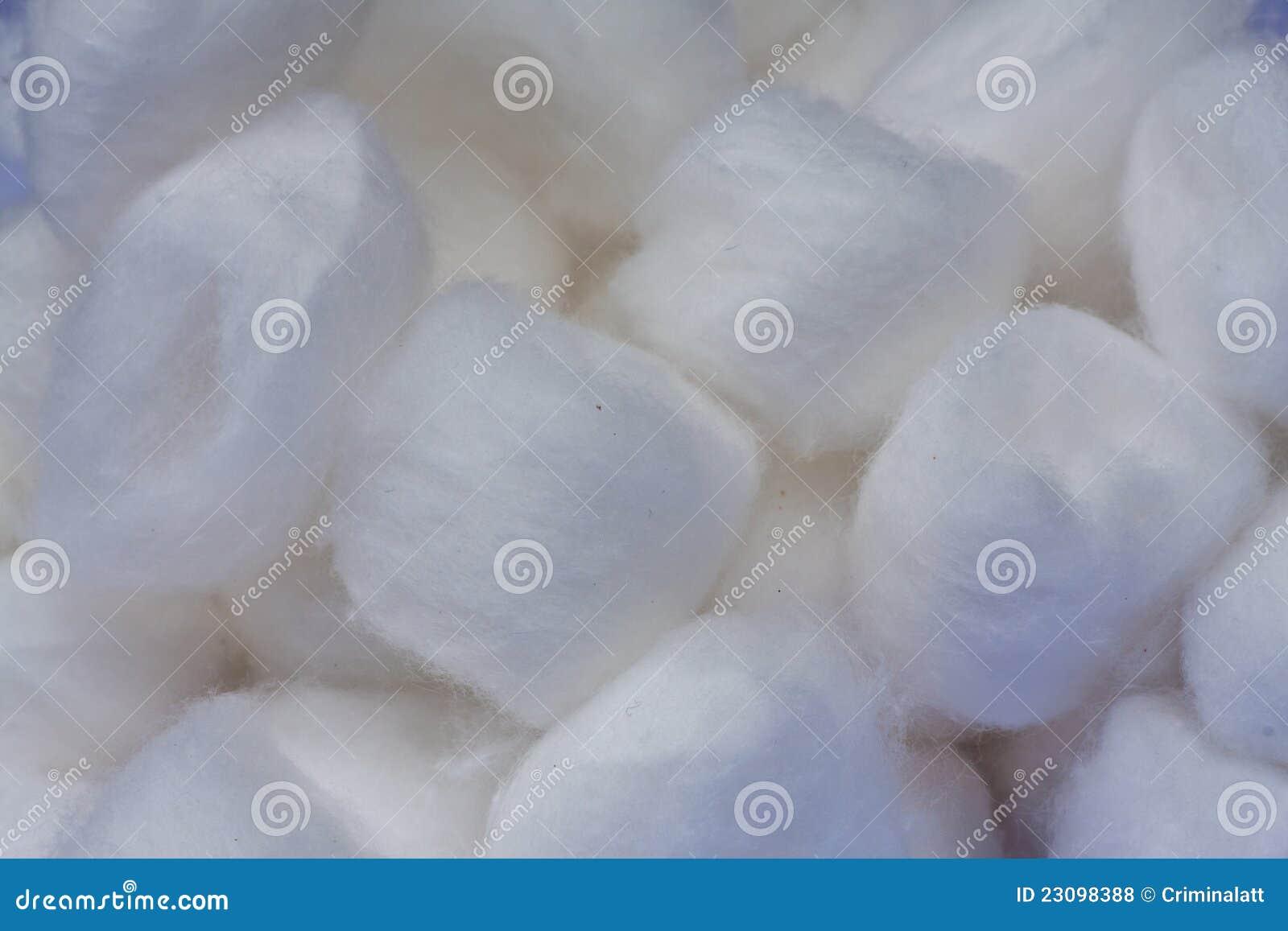 white cotton ball texture
