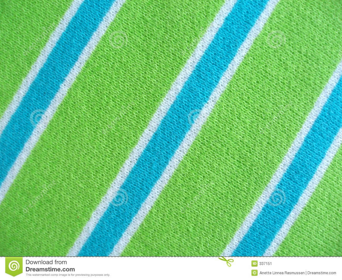 Stripe Blue Green And White: Cotton Fabric With Blue Green And White Stripes Stock